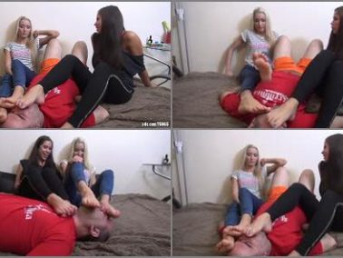 Foot humiliation - ALICE And ARIEL - Hippie - Foot Worship Footstool And Humiliation