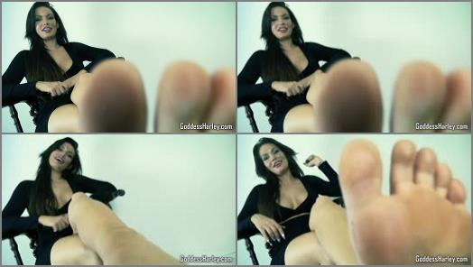 Barefoot – AMAZON Goddess Harley – Foot In Mouth