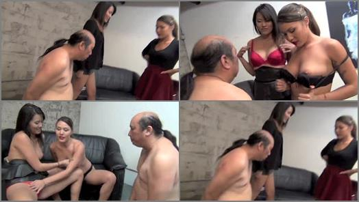 ASIAN MEAN GIRLS  JERK OFF FOR ME AND MY HOT NEW GIRLFRIEND   Goddess Angelina and Goddess Mena preview