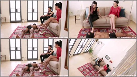 Foot Domination – Anne Love – Slave`s Mouth Cleans Me and My Sister`s Feet