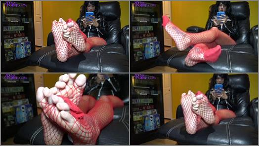 Arena Rome  No Peeking at Mommys Red Fishnets Wrinkled Soles and Long Toes preview