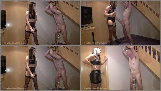 Cbt – Ball Busting Chicks – Your cock is not bruised enough –  The Hunteress
