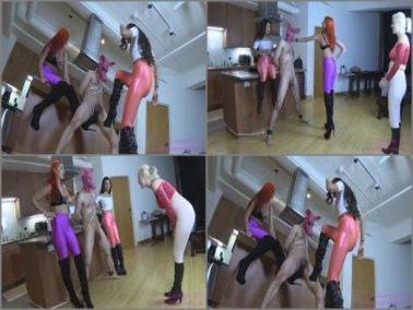 Boot Fetish - Brat Princess 2 – Amadahy Jenna and Jennifer – Ballbusting the Pig into Bacon