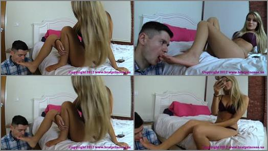 Pretty Girl Abuses Dweeb – Brat Princess 2 – Chloe – Plans Date with Boyfriend while Getting Foot Worship in Bed
