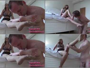 Goddess Gwen - Brat Princess 2 – Gwen – Cuck Worships Feet Before Night Spent Under Bed
