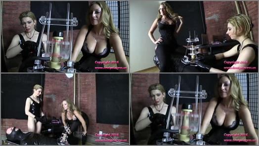 Electric Play – Brat Princess 2 – Gwen and Lola – Slave Cums in Receiver after Long Cruel Machine Edging Part 2