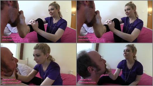 Foot Humiliation – Brat Princess 2 – Lola – Very Dirty Foot Worship