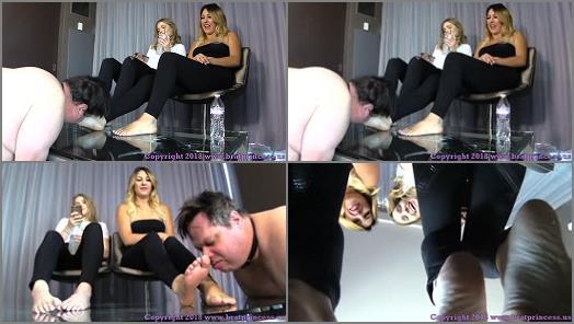 Foot worship – Brat Princess 2 – Princess Amber, Princess Skylar – Glass Table Foot Fetish Tease
