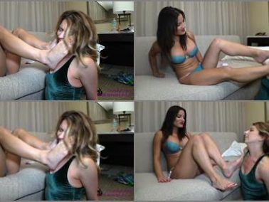 Foot in mouth - Brat Princess 2 - Princess ChiChi - Convinces Shy Roommate to Worship Her Feet
