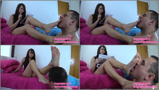 Foot worship - Brat Princess 2 - Princess Natalya - Nineteen Year Old Brat Shops while Getting Stinky Feet Worshiped