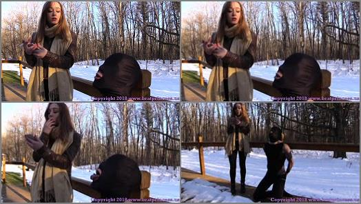 18 & 19 Yrs Old –  Brat Princess 2 – Veronica – Uses Outdoor Human Ashtray on a Cold Day