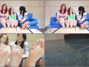 GIANTESS SPECIAL EFFECTS - Bratty Foot Girls - Catherine Foxx, Piper, Mariah - Shrunken Under 6 Soles SFX
