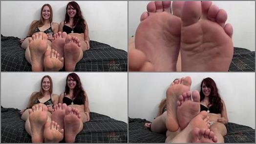 Soles – Bratty Foot Girls – Goddess Jolene, Molly Zeppa – Pathetic Foot Boy – Double Humiliation