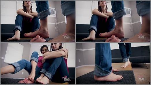Foot worship – Bratty Foot Girls – Nikki Next, Morgan Delray – Stuck Toe Sucker