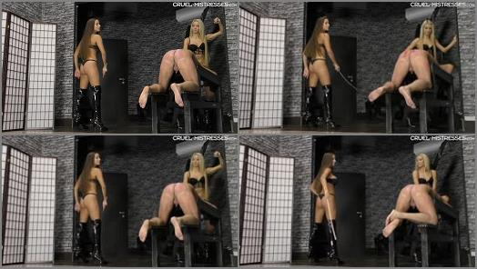 Extreme Domination –  CRUEL MISTRESSES – Punished by the girls –  Mistress Amanda and Mistress Ariel