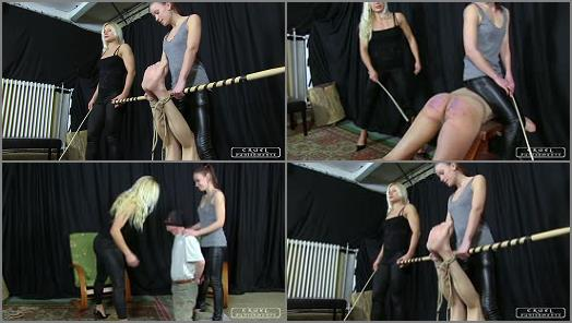 CRUEL PUNISHMENTS  SEVERE FEMDOM  Anette and Zita treat their slave bad preview