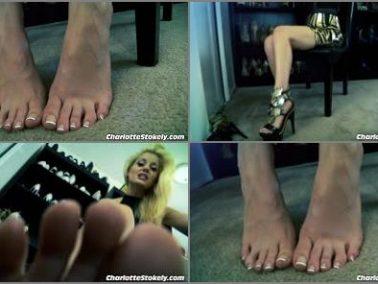 High heels - Charlotte Stokely - Foot Licker Im Home