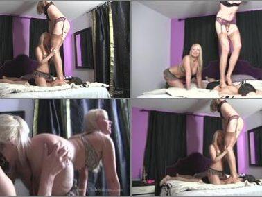 Transsexual Dominatrix -  Club Stiletto FemDom – I Love Making Him Suffer Under Us -  TS Staci and Mistress Kandy