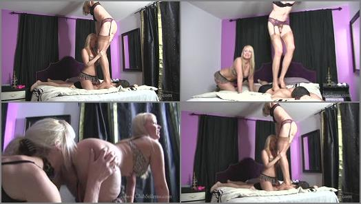 Club Stiletto FemDom  I Love Making Him Suffer Under Us   TS Staci and Mistress Kandy  preview
