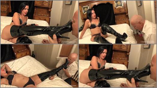 Boot Licking – Club Stiletto FemDom – Shaming Hubby With My Boots  Starring Lady Bellatrix