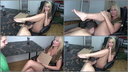 Pussy Worship – Club Stiletto FemDom – You're The Offices New Pussy Licker –  Mistress Kandy