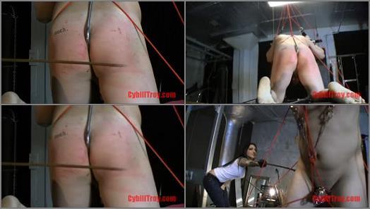 Candid – Cybill Troy FemDom Anti-Sex League – Anal Hook Caning