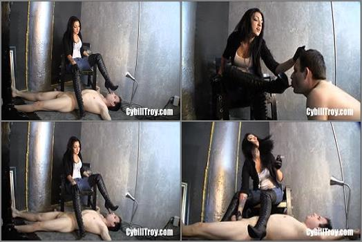 Cybill Troy FemDom AntiSex League  Leather Boot Torment  Boot worship preview