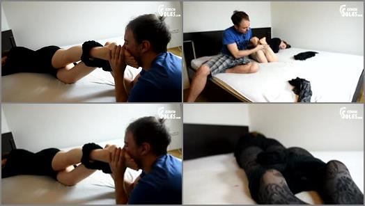 Pantyhose/stockings –  Czech Soles – Foot pervert violating Anna's smelly nylons and feet