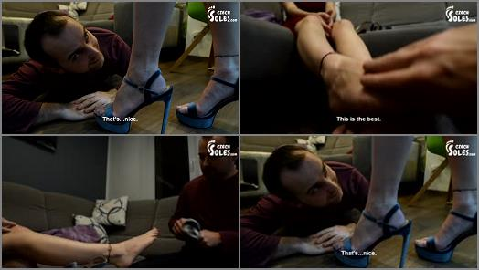 Foot in mouth – Czech Soles – High heels fetish confession to my new neighbour