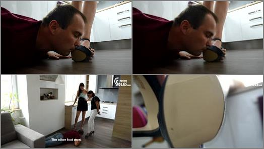 Footdom –  Czech Soles – Mean girls humiliate him and take all his money