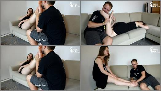 Bare Feet –  Czech Soles – Naughty girl intoxicates Charlie for her pleasure
