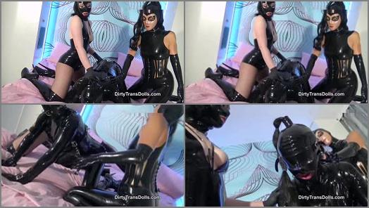 Femdom – Dirty Trans Dolls – Bound and milked latex doll part 1 –  Fetish Liza