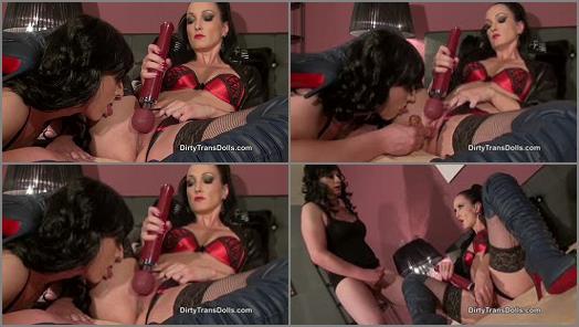 Boots –  Dirty Trans Dolls – Teasing My tranny slut part 2 –  Fetish Liza