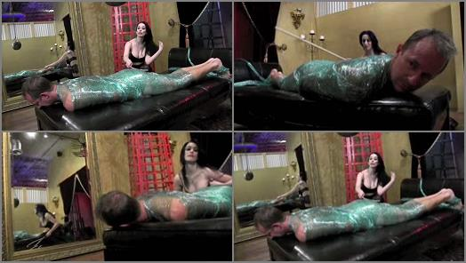 Corporal Punishment – DomNation – MUMMIFIED AND THEN CANED  Starring Mistress January Seraph