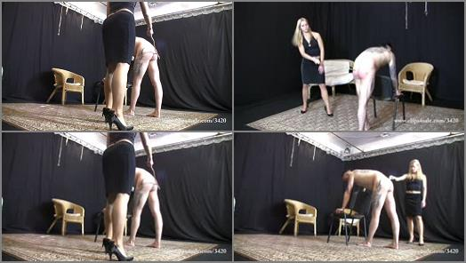 Elegant femdom  Lady Ann canes the loser preview