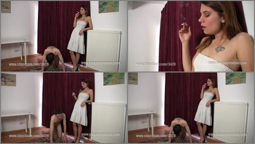 Smoking – Elegant femdom – efcl605 human ashtray –  Princess Lucy