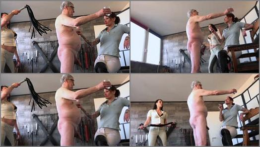 FEMDOMPOVCLIPS  Whipping And Cigarette Torture   Miss Jayla And Mistress Medina  preview