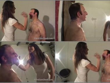 FemDomShed – Giving sloth a serious face slapping -  Princess Jess