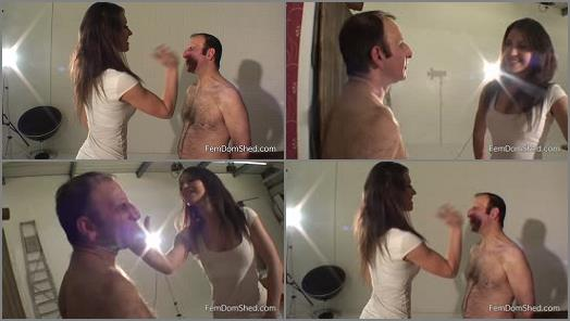 FemDomShed – Giving sloth a serious face slapping –  Princess Jess