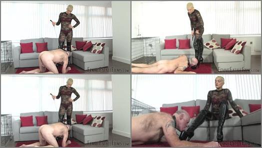 Femdom – FemmeFataFefilms – Tongue For Boots – Part 1-2 –  The Hunteress