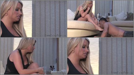 : Femme Fatale Films –  Femme Fatale Films – Filthy Foot Licker – Part 1-2 –  Goddess Pandora