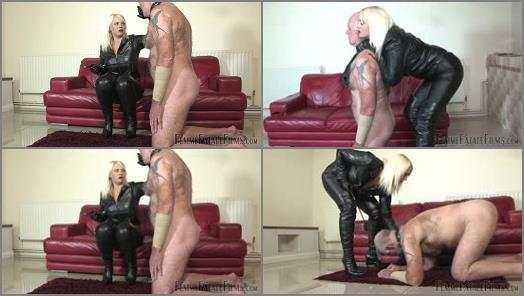 Spitting – FemmeFataleFilms – Leather Clad Smother – Part 1 –  Mistress Heather