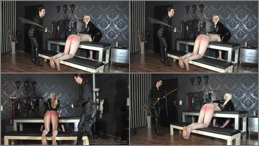 Whip – FemmeFataleFilms – Officer's Fodder – Part 2 –  Mistress Heather and Lady Victoria Valente