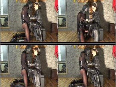 Stiefelfick - GERMAN FEMDOM Lady Victoria Valente – Lady Victoria Valente in nipple play and fuck your cock between my boots