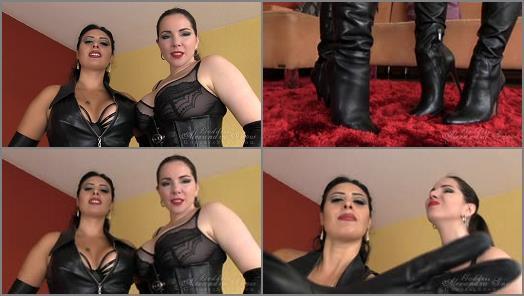 Leather Fetish – Goddess Alexandra Snow – Double Leather Jerk Off Instruction –  Mistress Ezada Sinn