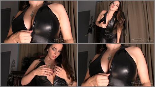Tease & Denial – Goddess Alexandra Snow -Leather Tit Worship