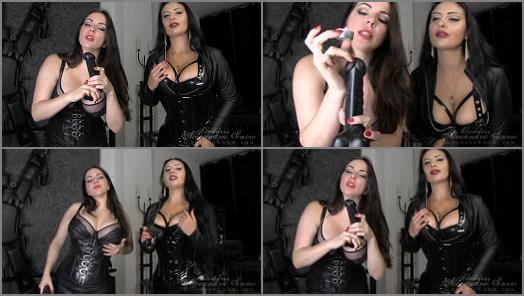 Cbt Instruction – Goddess Alexandra Snow – One Month CBT & Ruined Orgasm Assignment, Task 4 –  Mistress Ezada Sinn and Goddess Alexandra Snow