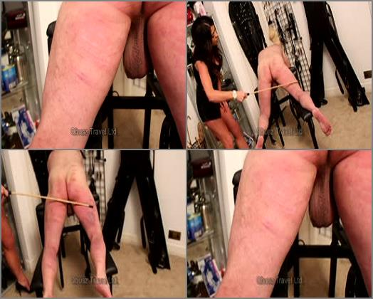 Goddess Eclipse  Heartless sadistic back of the leg caning preview