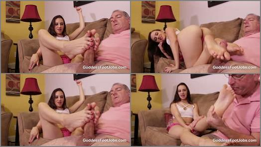 Foot Fetish – Goddess Foot Jobs – Stepdad Makes Me Feel Better –  Ashlynn Taylor