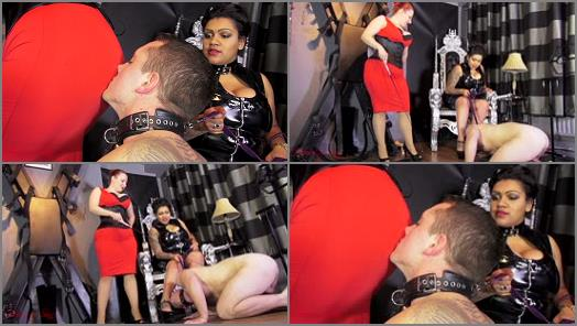 Ass Worship – House of Sinn – A lesson in the true meaning of Worship –  Mistress Liberty and Lady Yna